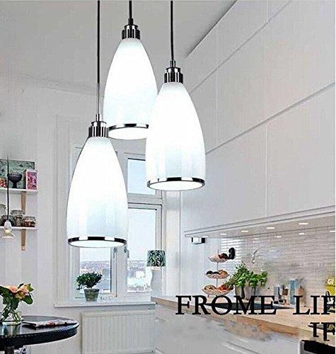 Moderne minimalistische led-eetkamer eettafel eettafel kroonluchter, met licht zuiver, 3 koppen