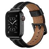 AISPORTS Compatibile con Cinturino Apple Watch 40mm 38mm Pelle, Robusto Cinturino Vintage Morbido e Traspirante con Fibbia in Metallo Cinturino di Ricambio per Apple Watch SE/iWatch Series 6/5/4/3/2/1