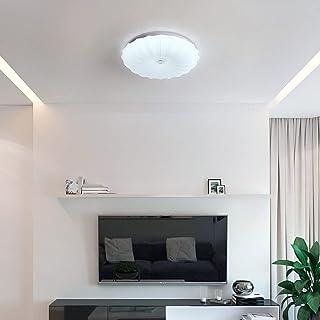 Garwarm Flush Mount Modern Ceiling Light, Round LED ceiling Lamp 20W Surface Mounted Celing Lighting Fixture White Ceiling...