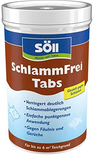 Söll 20083 SchlammFrei Tabs Teichpflegemittel 1x6 Tabs braun– effektive Tabletten für gezielten Abbau von organischem Schlamm und Ablagerungen im kleinen Gartenteich Fischteich Schwimmteich Koiteich