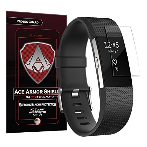 Ace Armor Shield Protek Guard Screen Protector for The Fitbit Charge 2 (6 Pack) with Free Lifetime Replacement Warranty