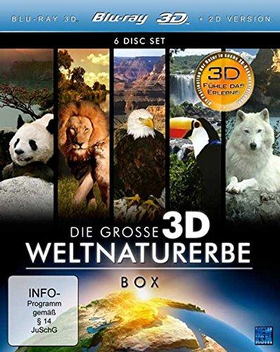 Die große 3D Weltnaturerbe [6 Blu-rays 3D]