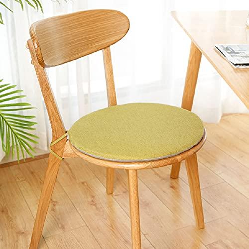 42×42 Cojines Redondos Cojines sillas de Exterior Cojines sillas Cocina Cojín Redondo Silla Utiliza un núcleo de Esponja de Alta Densidad con un diseño Doble Antideslizante Durable y Hermoso