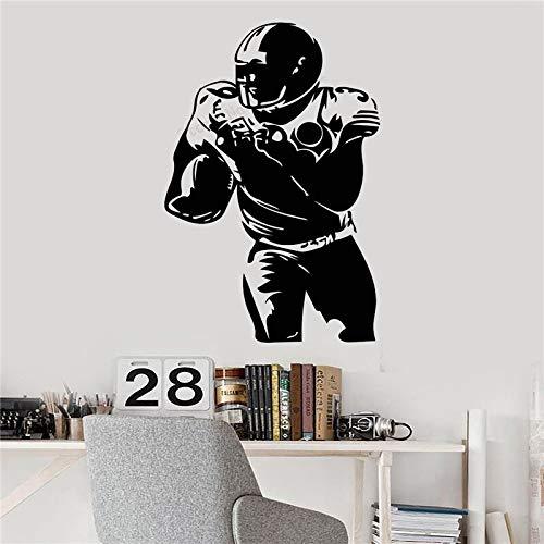 yaonuli Wanddekoration Sport Jugend Applique Vinyl Kunst abnehmbare Dekoration Moderne Fußball Poster American Football Zimmer Aufkleber 75X131cm