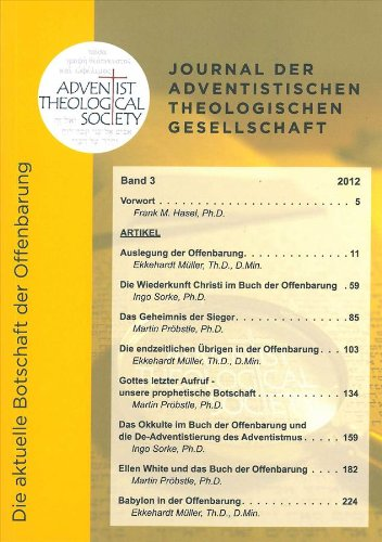 Journal der Adventistischen Theologischen Gesellschaft, Band 3, 2012