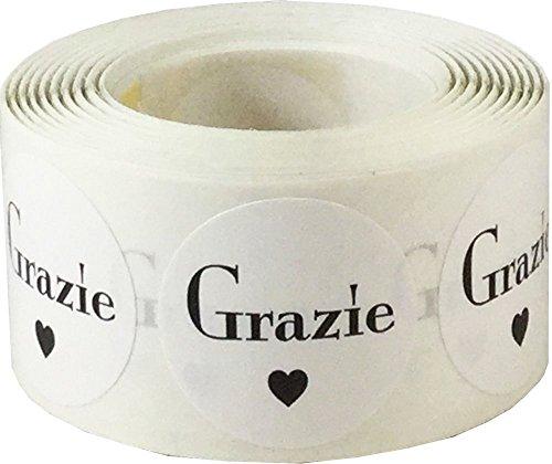 Bianchi Grazie Adesivi, 25 mm 1 Pollice Etichette Circolari 500 Pacchetto