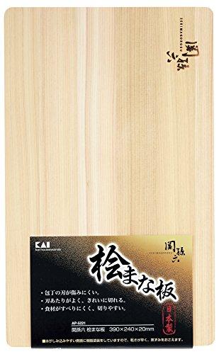 貝印 KAI 関孫六 桧 まな板 390×240mm AP5221