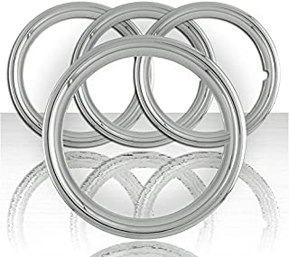 Upgrade Your Auto Set of Four 17' Chrome ABS 1 1/2' Deep Wheel Trim Rings