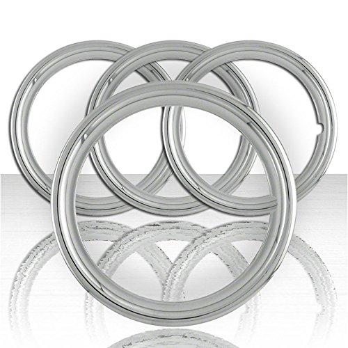 Upgrade Your Auto Set of Four 17' Chrome ABS 1 1/2' Deep Wheel Trim Rings
