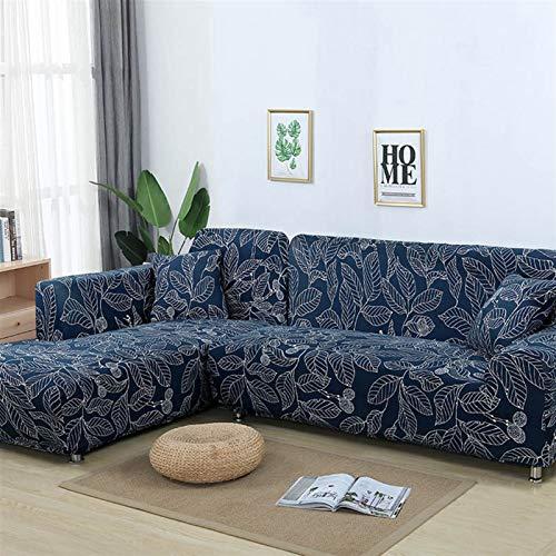 SASCD 1/2 Piezas de sofá Cubierta de sofá elástico Cubierta de sofá Cubierta para Sala de Estar Pedido 2 Piezas si se Encuentra en Forma de L de la Esquina de Chaise de Esquina