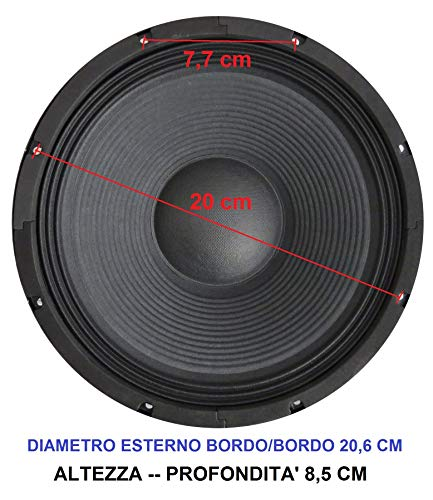 4 OHM 60 WATT RMS DOPPIA BOBINA SUBWOOFER MASTER AUDIO CW650//4+4 16,50 CM 4