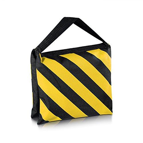 Neewer Black/Yellow Heavy Duty Sand Bag Photography Studio Video Stage Film Sandbag Saddlebag for Light Stands Boom Arms Tripods