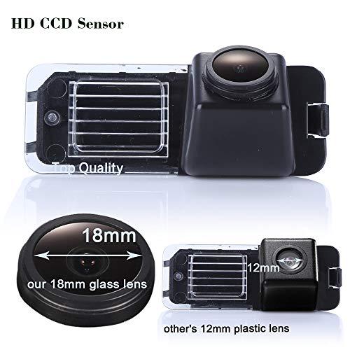 Kalakus Caméra de Recul Plaque D'immatriculation avec Vision Nocturne Aide au stationnement pour VW New Beet/Phaeton/Scirocco/Golf/Variant/Seat Leon/Skoda Superb/Polo V/Passat CC/Jetta