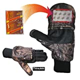 Best Cold Weather Hunting Gloves - Heat Factory Gloves with Pop-Top Mittens, with H Review