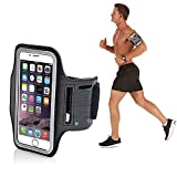 Generic Sports Running Mobile Armband Pouch with Key Earphone Holder for 5.5 Inches