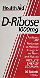 HealthAid D-Ribose 1000mg 90 Vegan Tablets