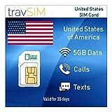 travSIM Prepaid SIM Kaart VSA & Puerto Rico Lycamobile 5 GB Mobiele Data - Onbeperkte Nationaal &...