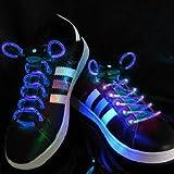 Blue LED Light Up Flashing Shoelaces + Extra Batteries