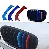 Muchkey Per 1 serie F20 F21(8 griglie) Rene griglia radiatore 3D m styling griglia anteriore Insert Trim Motorsport strisce griglia di performance adesivi