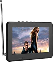 Portable Digital Television,7in/10in LCD 1080P ATSC Car Digital TV with FM Radio,Stereo Digital TV Support AV in/Out,SD MM...