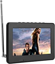 Portable Digital Television,LEADSTAR 7in/10in LCD 1080P ATSC Car Digital TV with FM Radio,Stereo Digital TV Support AV in/Out,SD MMC Card for Kitchen,Outdoor,Car,Caravan,Camping(7in ATSC)