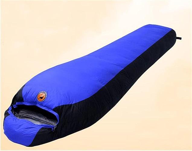 LXSnail Extérieur Sac de Couchage d'hiver de Couchage en Duvet Sacs Peut être épissé extérieur Simple Chaud épais Sac de Couchage Adulte Sac de Couchage (Couleur   Bleu, Style   Mummy-style-1800)