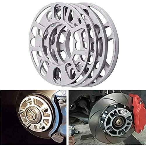 Junzheng 4 Piezas Espaciadores de ruedas,cuñas de aleación de Aluminio Espaciador,Juntas De Cubo De Rueda Ensanchadas Modificadas de 4 y 5 Espaciadores,3/5/8/10mm,Universales 4/5/6 Agujeros
