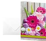 SIGEL DS001 Grußkarten Colorful, 10er Set mit Umschlägen