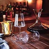 Amisglass Weingläser 500 ml, 6er Set Weinglas für Rotweine und Weißweine, bleifreie & transparente Weinkelche, spülmaschinenfeste Cabernet-Rotweingläser, hochwertige & elegant - 4
