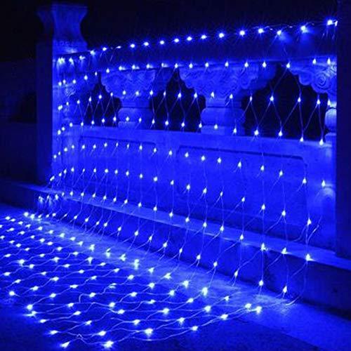 WZCXYX Luz De Red para Decoración De Red De Pesca, Luz De Red LED para Exteriores, Decorativa para Jardín, Impermeable, Adecuada para Decoración De Centro Comercial Navideño(Color:Azul)