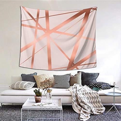 Tapiz de pared de color rosa y cobre de lujo, 51 x 150 cm, tapiz para colgar en la pared para sala de estar, dormitorio, cortina de picnic