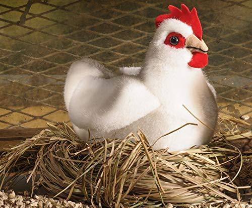 Kösener Huhn Henne Hahn sitzend 14 cm weiß 7361 Stofftier Kuscheltier Stofftier Plüschtier Plüsch