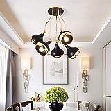 Bradoner Creative Golden Lamp Body 5 lámparas de techo, ángulo de iluminación...