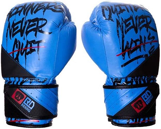 RD BOXING Gants de Boxe Rumble V5 Cuir Ltd StateHommest Bleu Noir