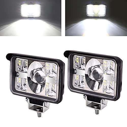 YnGia 2 luces de trabajo LED cuadradas, haz combinado de inundación puntual,...