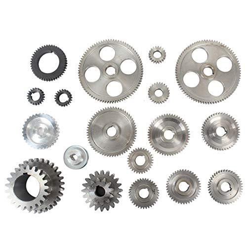 TOOGOO C2-398G Ersatzteile für Drehmaschinen Stahl Zahnr?Der Kompletter Satz Metrischer Fahrzeug Zahnr?Der für die C2 Drehmaschine