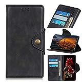 Mingyoung, custodia a portafoglio compatibile con LG K92 5G, in pelle di pecora, design a libro con funzione di supporto, chiusura Megnetic e scomparti per carte di credito, colore: nero
