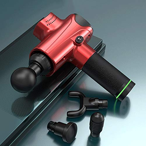 Massage Gun, Deep Tissue Massager Muscle Massage Gun with 30 Speeds 6 Heads, Powerful Percussion Massage Gun, Electric Handheld Massage Gun Deep Tissue for Body Foot Neck Shoulder (Color : Red)
