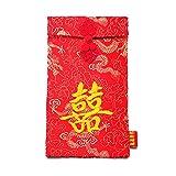 NW 1776 1776 Año Nuevo Chino Paquete Rojo Gasa Bordado Bolso Rojo Bolso para Boda, Vacaciones, Cumpleaños (Hola))