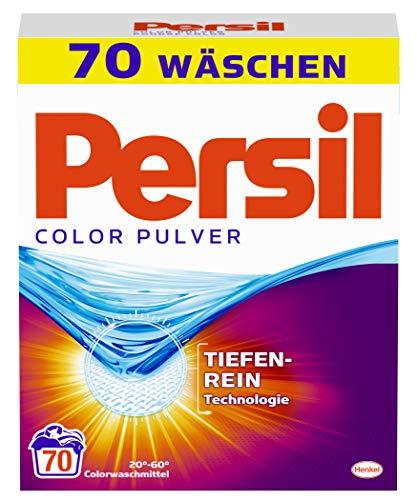 Persil Color Pulver, Waschmittel, 70 (1 x 70) Waschladungen für hygienisch reine Wäsche