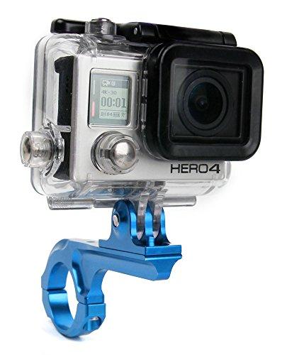 DURAGADGET Support et Bras vélo, Moto, Trottinette & Autres à Fixer sur Guidon pour caméra camescope GoPro Tous modèles (1, 2, 3, HD3+, Hero4, Hero, Outdoor, HD etc.) - Bleu