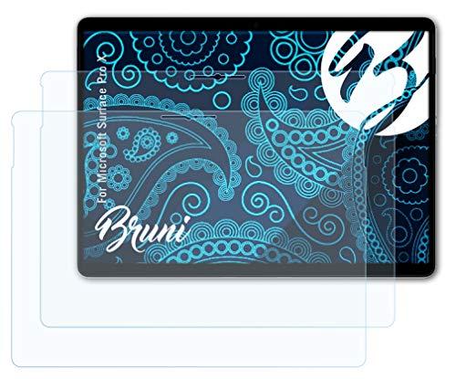 Bruni Schutzfolie kompatibel mit Microsoft Surface Pro X Folie, glasklare Bildschirmschutzfolie (2X)