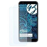 Bruni Schutzfolie kompatibel mit Asus ZenFone Max Plus M1 Folie, glasklare Bildschirmschutzfolie (2X)