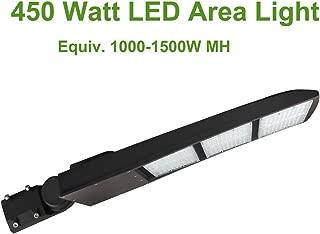 LED Flying Direct Outdoor 450 Watt LED Shoebox Light, Mean Well Driver, 5000K, 58500LM Flood Light, LED Parking Lot Light, Area Light, Replace 1000W-1500W MH/HPS Shoebox Pole Light, DLC UL Approved