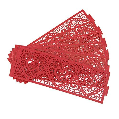 Generic 6Stück Led Papier Teelichthalter Teelicht Oder Votivkerze Kerze Halter Deko - Rot
