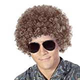 Fluffy Afro Synthetic Clown Wig for Men Women Cosplay Anime Party Christmas Halloween Fancy Funny Wigs (Brown)
