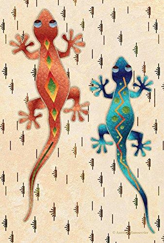 Geckos DIY Home Garden 31 x 45 cm Decoração Artiic Southwe Desert Lagarto Jardim