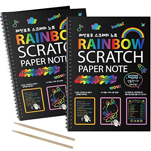 I&Art Scratch Art Books for Kids Scratch Art Paper Rainbow Scratch Art for Best Gifts