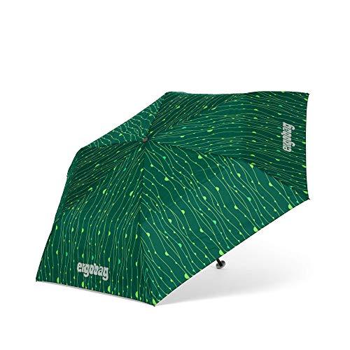 ergobag Regenschirm Schultaschenschirm für Kinder, extra leicht mit Tasche, Ø90cm - RambazamBär, Grün