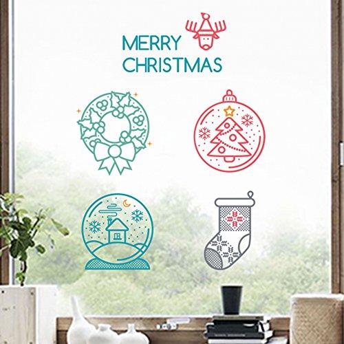 Kerstversiering met Crystal Ball Sokken Vrolijke Kerstmis Illustratie Sticker Bruiloft Decor Vinyl Waterdichte Muur PVC Sticker Wallpaper Decal Verwijderbaar